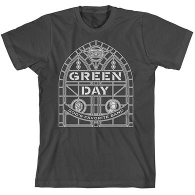 Green Day Stained Glass Arch T-Shirt