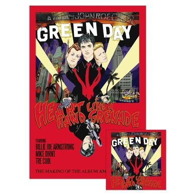 Green Day Heart Like A Hand Grenade DVD + Poster Bundle