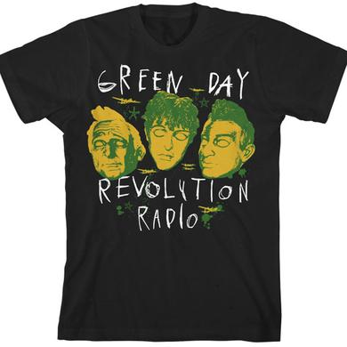 Green Day Glow in the Dark Scribble Mask T-Shirt
