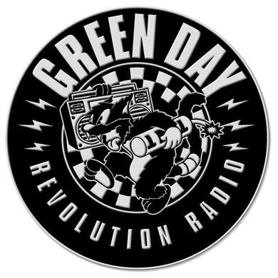 Green Day Checker Cat Patch