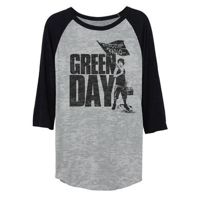 Green Day Represent Flag Raglan