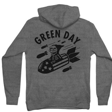 Green Day Scary Bombs Zip Hoodie