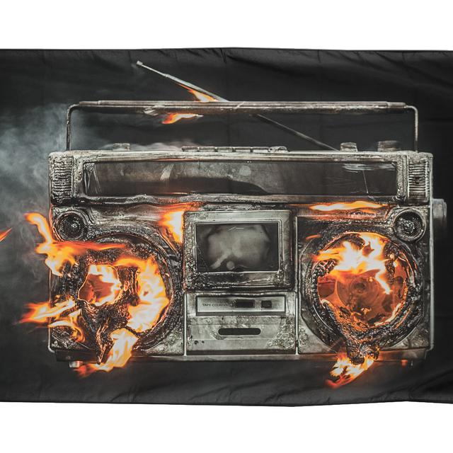 Green Day Revolution Radio Flag