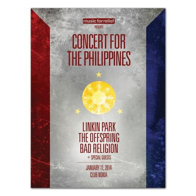Linkin Park Benefit for Philippines Concert Lithograph