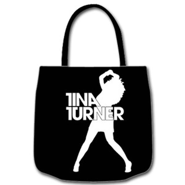 Tina Turner Silhouette Black Tote Bag