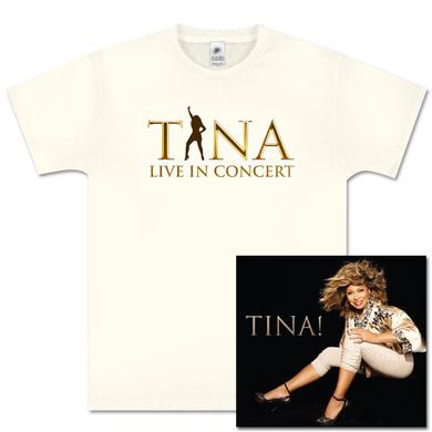 Tina Turner Tina! Her Greatest Hits CD and Silhouette Beige T-Shirt