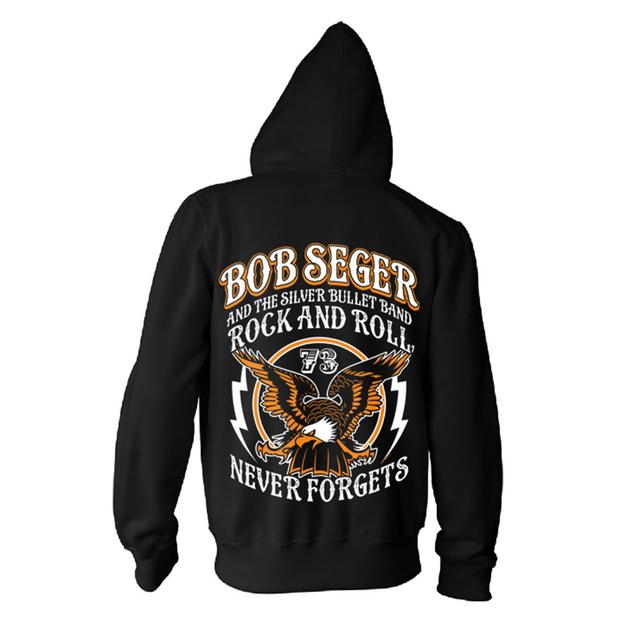 Bob Seger Rock and Roll Never Forgets Zip Hoodie