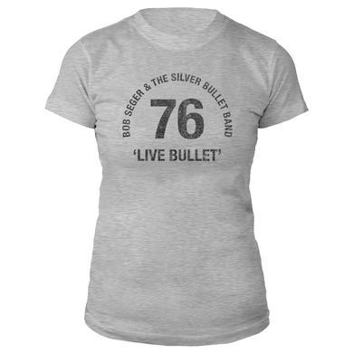 Bob Seger Live Bullet 40th Anniversary Ladies Tee