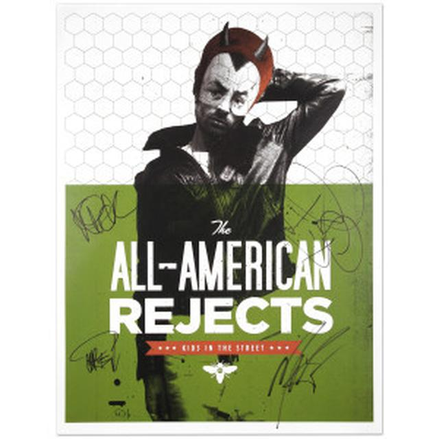 All american rejects AUTOGRAPHED Devil Boy Litho