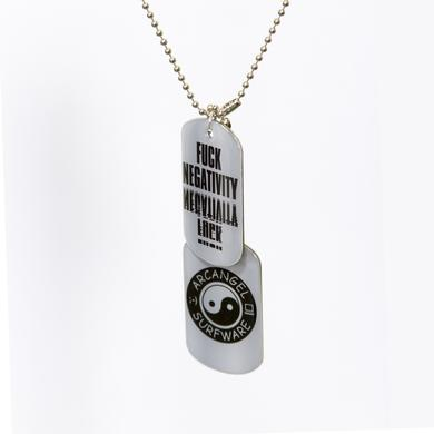 Arcangel Surfware Fuck Negativity Dog Tags (SRF-030)