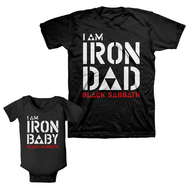 Black Sabbath Father's Day Onesie and Adult Tee Bundle