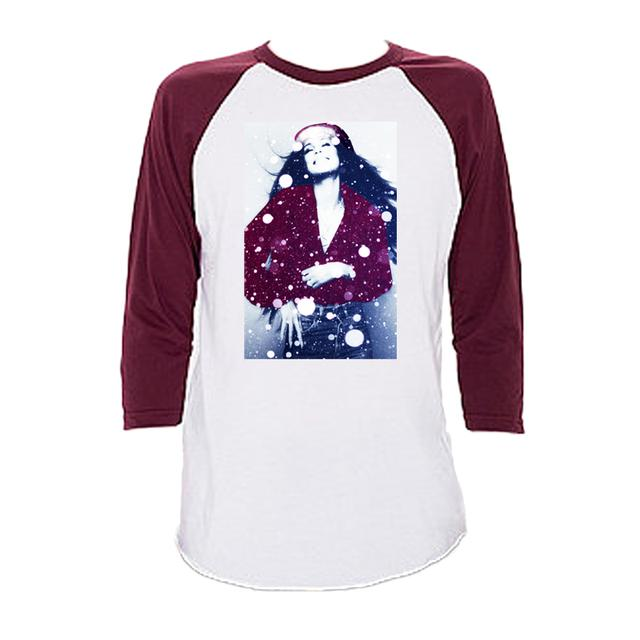 Cher White Winter Raglan