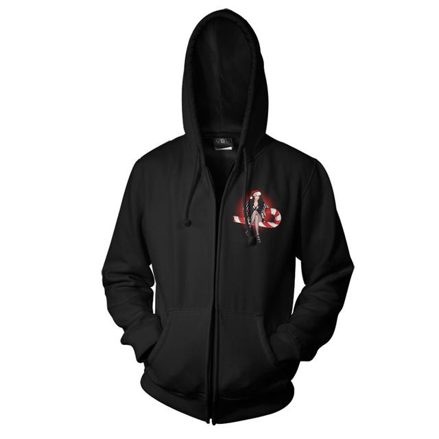 Cher Candy Cane Zip Hoodie