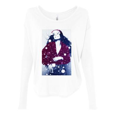 Cher White Winter Girls LS Tee