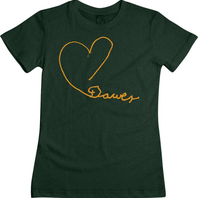 Dawes Line Heart Emerald Girls Tee