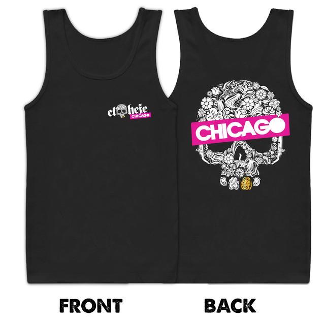 Men's El Hefe Chicago Skull Tank