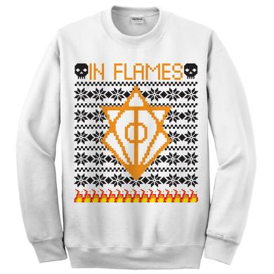 In Flames Holiday Ugly White Sweatshirt