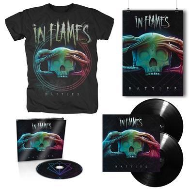 In Flames Battles Album T-Shirt + Poster + Music Bundle