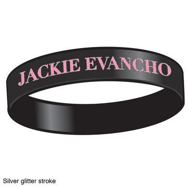Jackie Evancho Pink/Black Rubber Bracelet