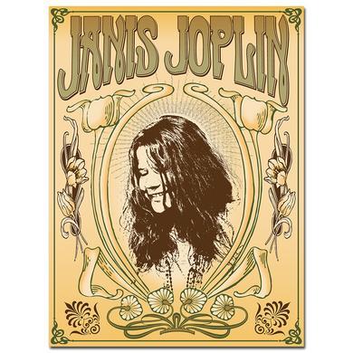 Janis Joplin Nouveau Frame Lithograph