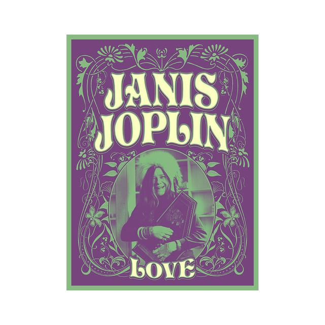 Janis Joplin Floral Love Lithograph
