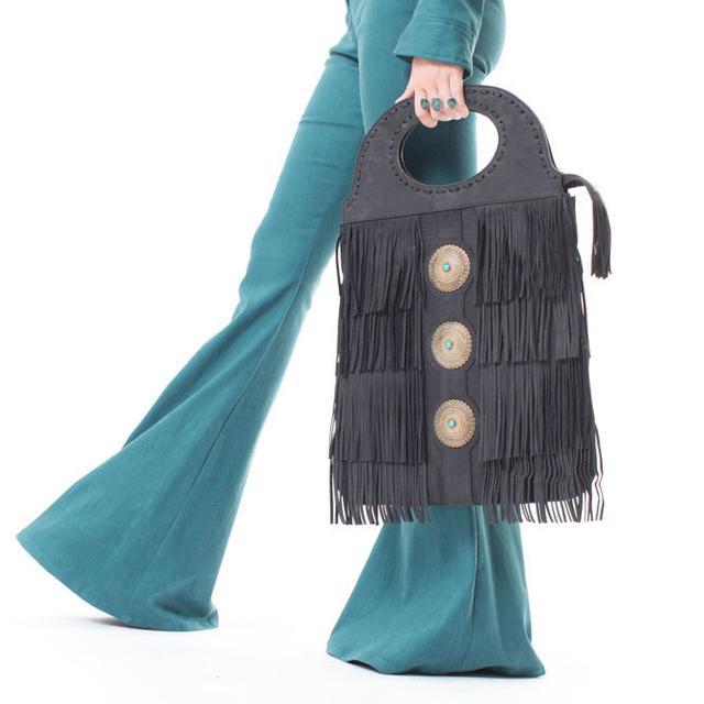 Janis Joplin Tell Momma Bucket Bag - Black