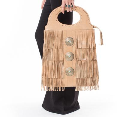 Janis Joplin Tell Momma Bucket Bag - Tan