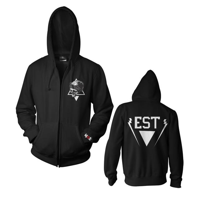 Machine Gun Kelly EST Skull Zip Hoodie