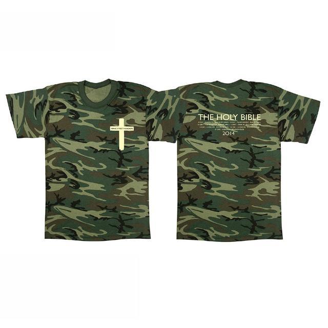 Manic Street Preachers The Holy Bible Cross Camo T-Shirt