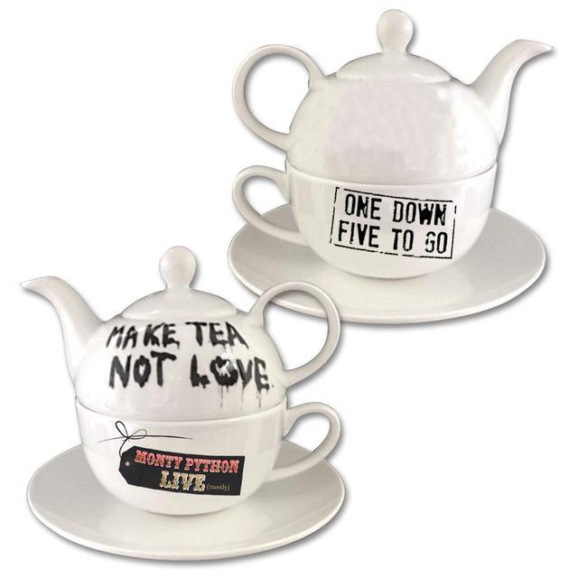 Monty Python Make Tea Not Love Teapot & Cup