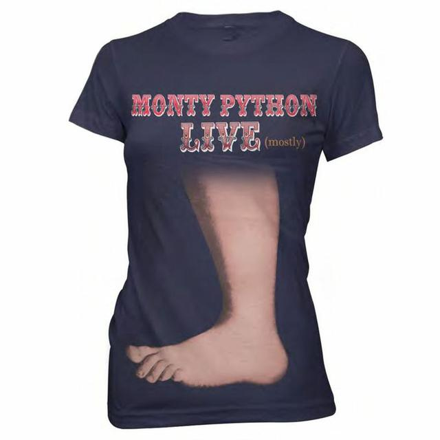 Monty Python Big Foot Ladies Navy T-Shirt