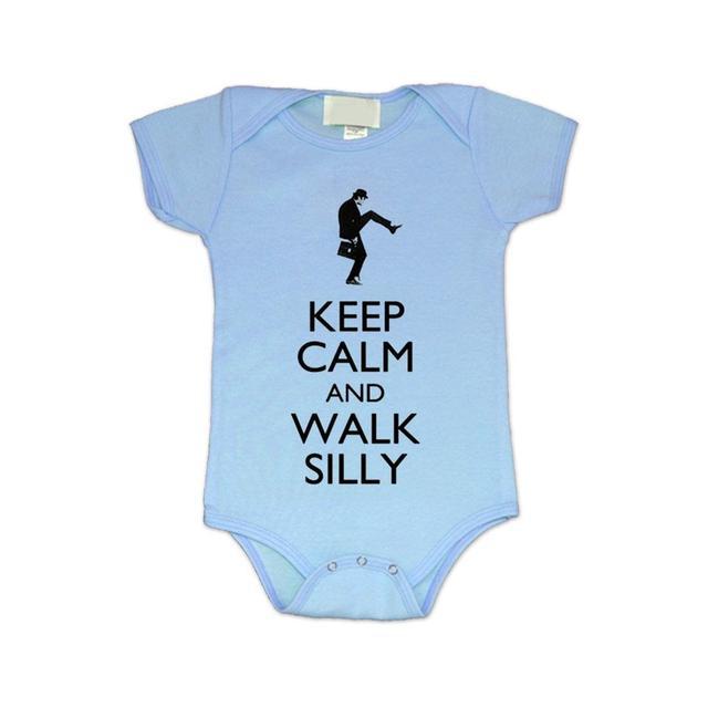 Monty Python Walk Silly Blue Baby Bodysuit