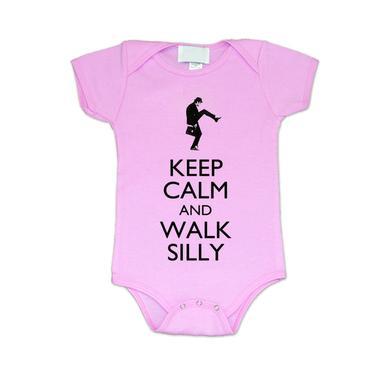 Monty Python Walk Silly Pink Baby Bodysuit