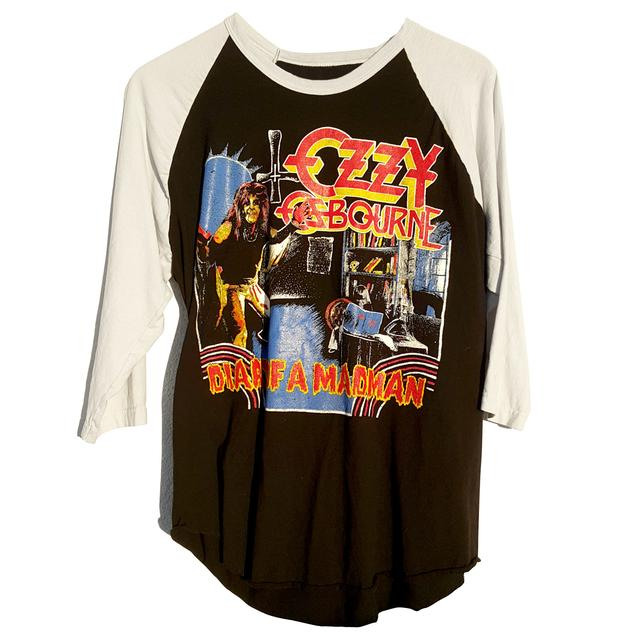 Ozzy Osbourne Diary of a Madman Vintage Inspired Raglan