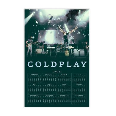 Coldplay 2015 Calendar Poster