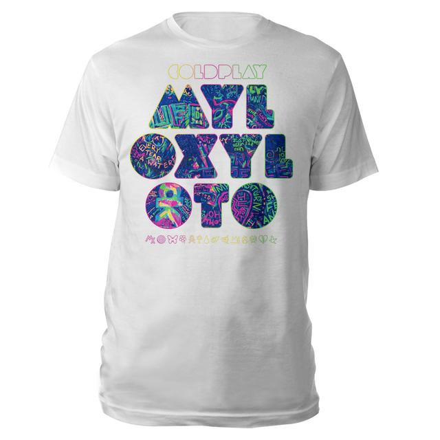 Coldplay White Graffiti Tee