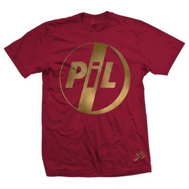 Public Image Ltd ( Pil ) PiL Gold Logo Red T-Shirt