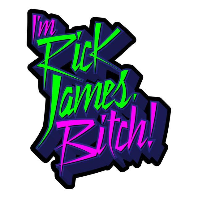 Rick James Sticker