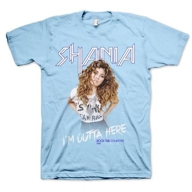 Shania Twain Outta Here Light Blue Tee