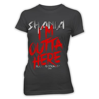Shania Twain Outta Here Charcoal Tee