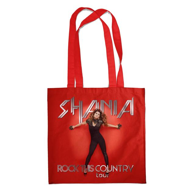 Shania Twain Red Pose Tote Bag