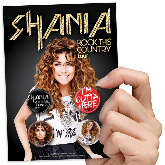 Shania Twain Rock This Country Pin Pack