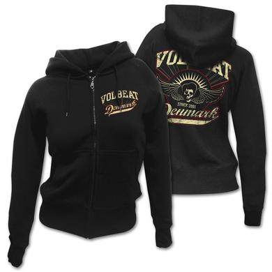 Volbeat Rise from Denmark Women's Zip Hoodie