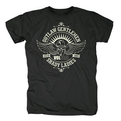 Volbeat Outlaw Gentlemen & Shady Ladies Crest T-Shirt