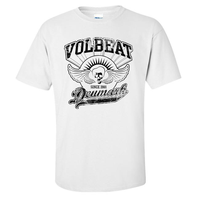 Volbeat Rise from Denmark White T-Shirt