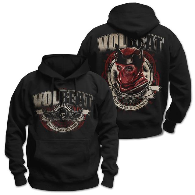 Volbeat Seal The Deal & Let's Boogie Red King Pullover Hoodie
