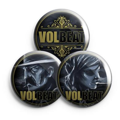 Volbeat Outlaw Gentlemen & Shady Ladies Button Set
