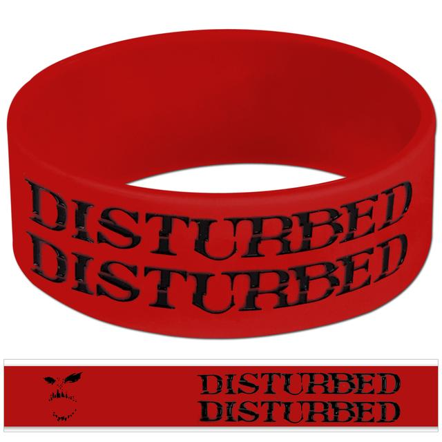 Disturbed Red Face Wristband