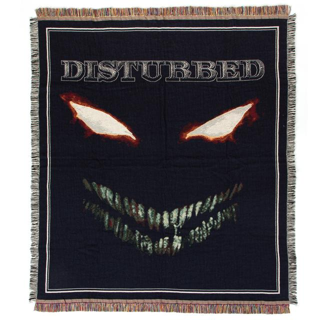 Disturbed Scary Face Woven Blanket