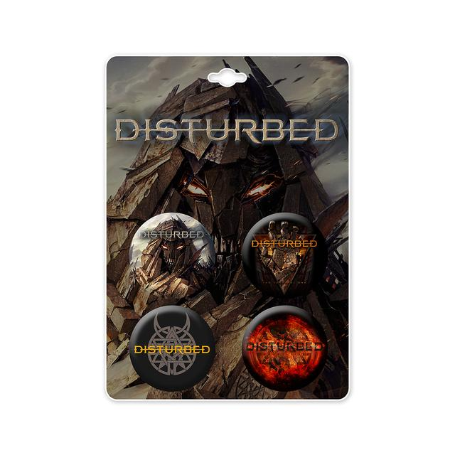 Disturbed Immortalized Button Pack